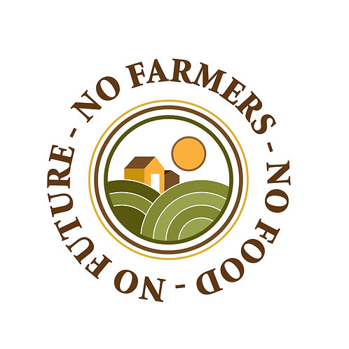 DECAL - No Farmers, No Food - Round
