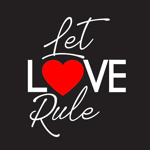 DECAL - Let Love Rule (Red Heart)
