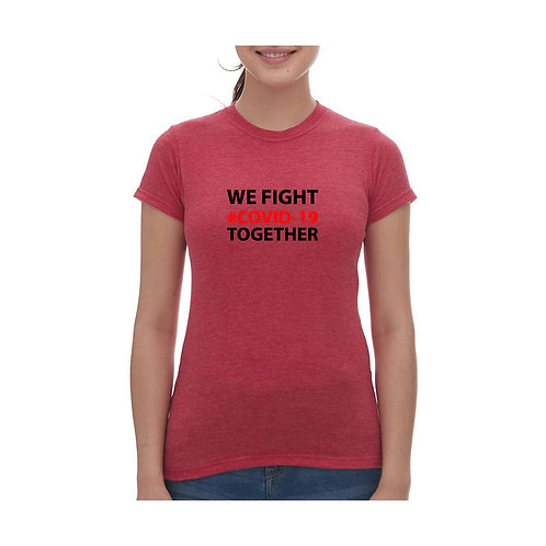 We Fight Covid 19 Together Tee - Ladies