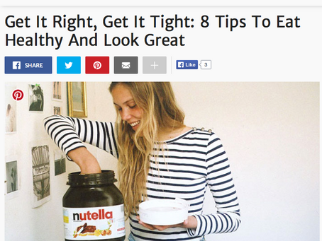 ELITE DAILY: Get It Right, Get It Tight: 8 Tips To Eat Healthy And Look Great