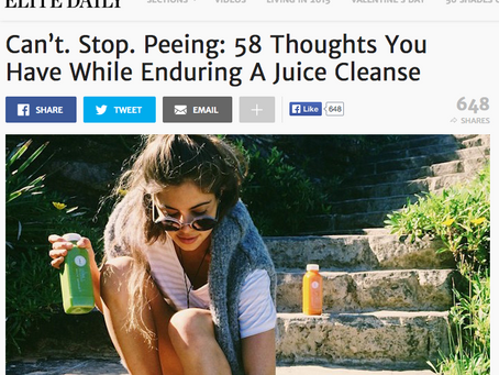 ELITE DAILY: 58 Thoughts You Have While Enduring A Juice Cleanse