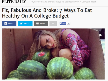 ELITE DAILY: Fit, Fabulous And Broke: 7 Ways To Eat Healthy On A College Budget