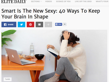 ELITE DAILY: Smart Is The New Sexy: 40 Ways To Keep Your Brain In Shape