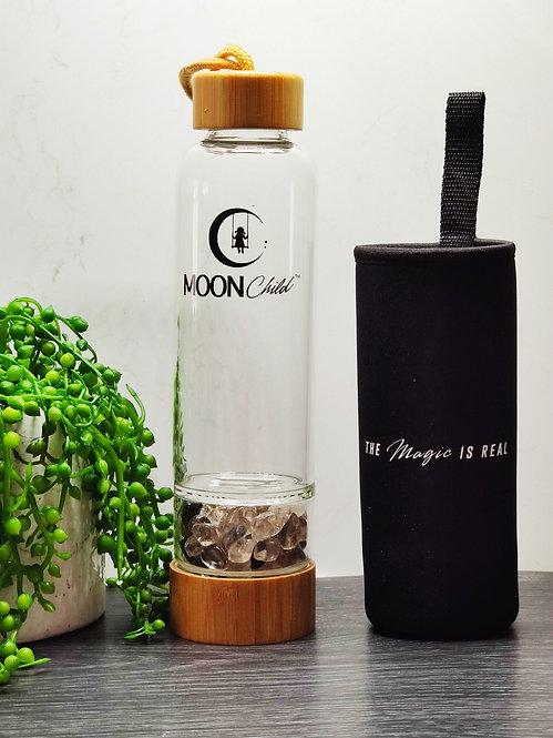 Crystal Elixir Drinking Bottle   SMOKY QUARTZ