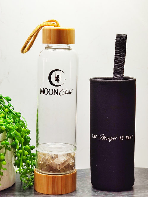 Rutiliated Quartz Crystal Elixir Bottle