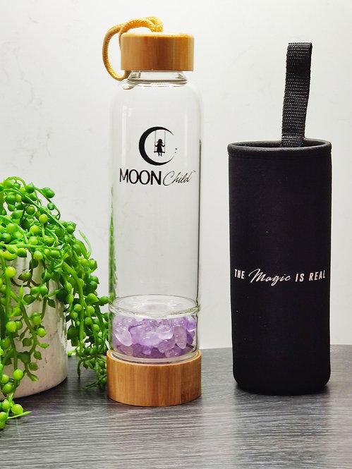 Crystal Elixir Drinking Bottle  AMETHYST