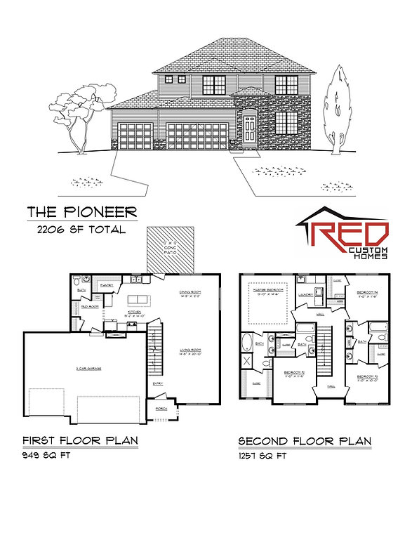 The Pioneer - Custom 2 Story house plan in Lincoln Nebraska