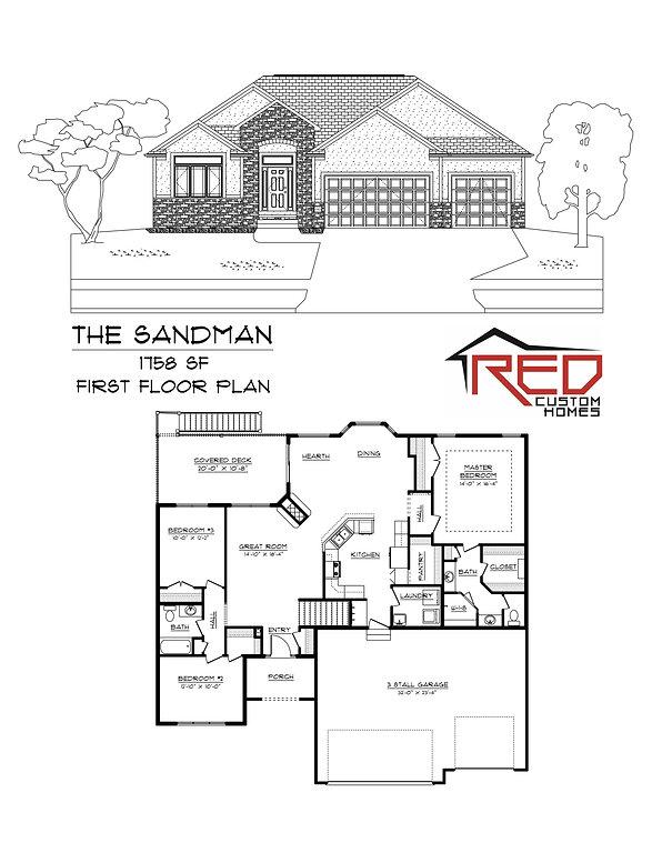 The Sandman - Custom Ranch house plan in Lincoln Nebraska