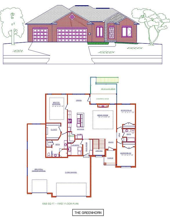The Greenhorn - Custom Ranch house plan in Lincoln Nebraska