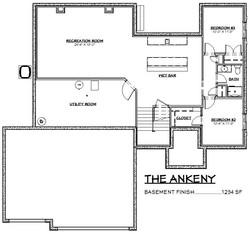 The Ankeny Basement Floor Plan