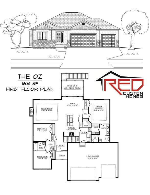 The Oz - Custom Ranch house plan in Lincoln Nebraska