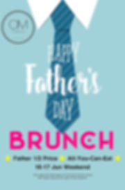 OM Tapas Father's Day All You Can Eat Brunch 16-17June 2018