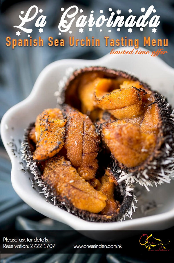 One Minden Tapas Kitchen Spanish Sea Urchin Tasting Menu