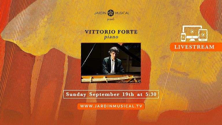 LIVESTREAM : Vittorio Forte, piano