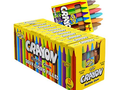 Sour Filled Crayon Bubblegum