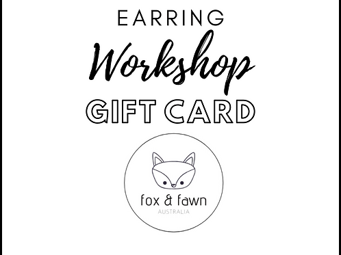 Earring Workshop Gift Card