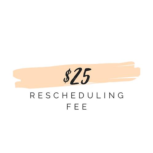 Rescheduling Fee