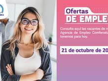 Ofertas de empleo - 21 de octubre de 2021