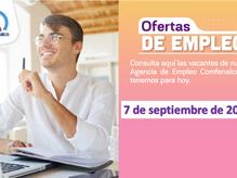Ofertas de empleo - 7 de septiembre de 2021