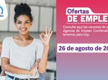 Ofertas de empleo - 26 de agosto de 2021