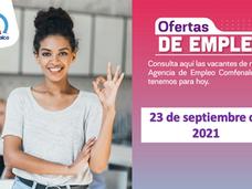 Ofertas de empleo - 23 de septiembre de 2021