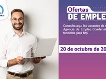Ofertas de empleo - 20 de octubre de 2021