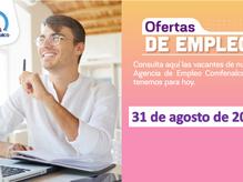 Ofertas de empleo - 31 de agosto de 2021