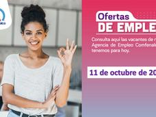 Ofertas de empleo - 11 de octubre de 2021