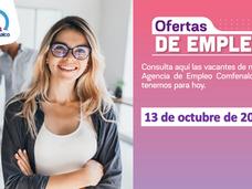 Ofertas de empleo - 13 de octubre de 2021