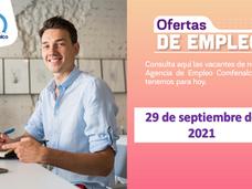 Ofertas de empleo - 29 de septiembre de 2021