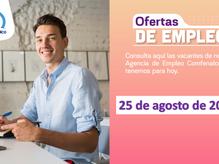 Ofertas de empleo - 25 de agosto de 2021