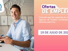 Ofertas de empleo - 19 de julio de 2021