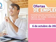 Ofertas de empleo - 6 de octubre de 2021