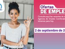 Ofertas de empleo - 2 de septiembre de 2021
