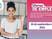 Ofertas de empleo - 16 de septiembre de 2021
