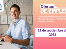 Ofertas de empleo - 22 de septiembre de 2021