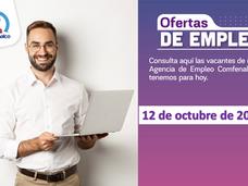 Ofertas de empleo - 12 de octubre de 2021
