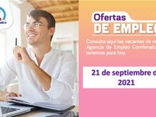 Ofertas de empleo - 21 de septiembre de 2021