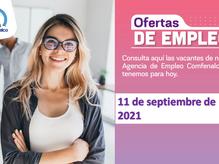 Ofertas de empleo - 13 de septiembre de 2021