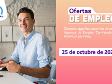 Ofertas de empleo - 25 de octubre de 2021