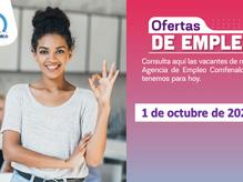 Ofertas de empleo - 1 de octubre de 2021