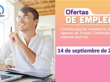 Ofertas de empleo - 14 de septiembre de 2021