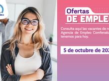 Ofertas de empleo - 5 de octubre de 2021