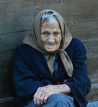 Old Mendicité femme