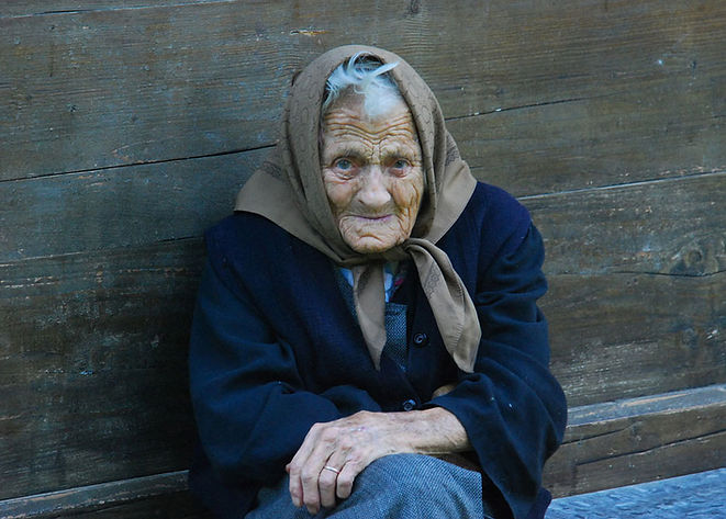 Old Begging Woman