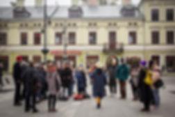 Wdech, Wydech - kompozycja na oddechy uczestników przemarszu, fot. T.Ogrodowczyk