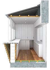 Отделка балконов пластковыми панелями