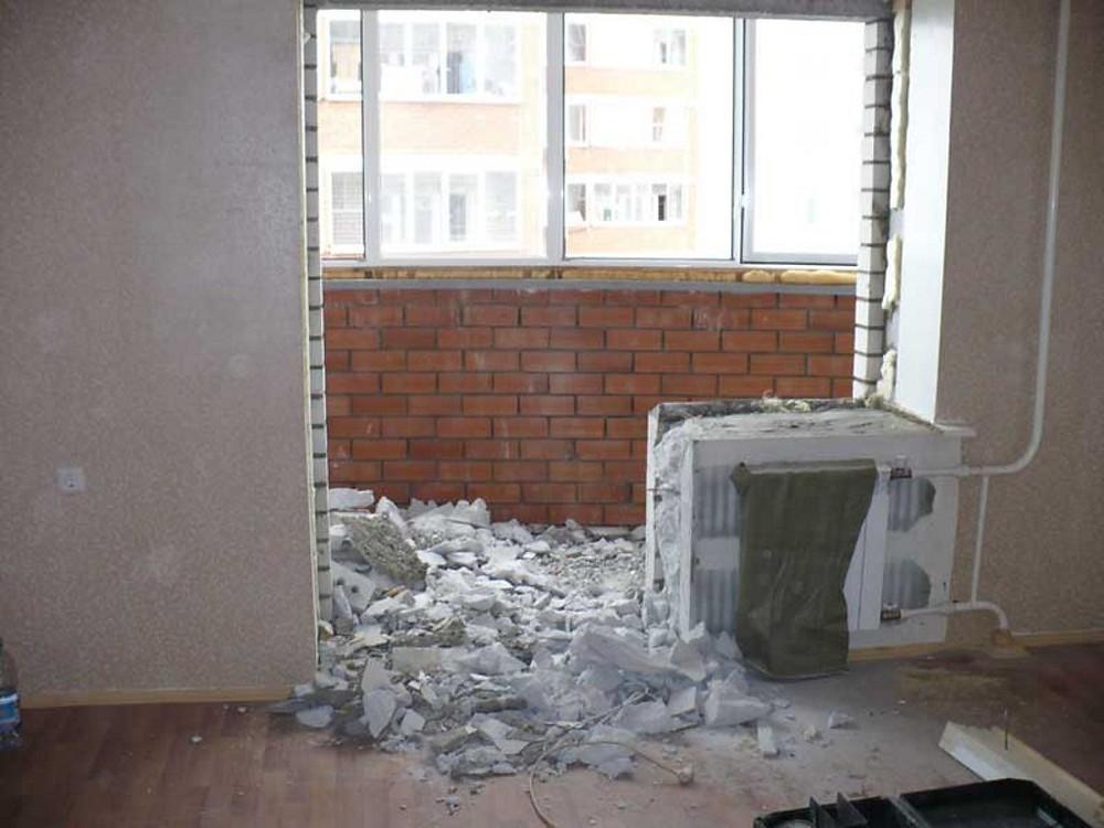 Демонтажные работы - демонтаж стен и перегородок