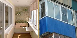 Отделка балконов и лоджий в Липецке
