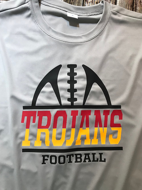 football with slit color Trojans